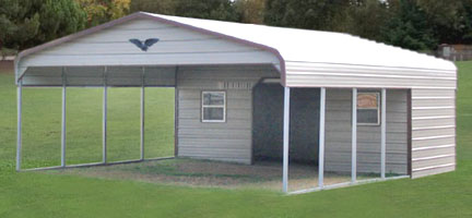 Space Saver Metal Garages, Carports, Sheds, Storage