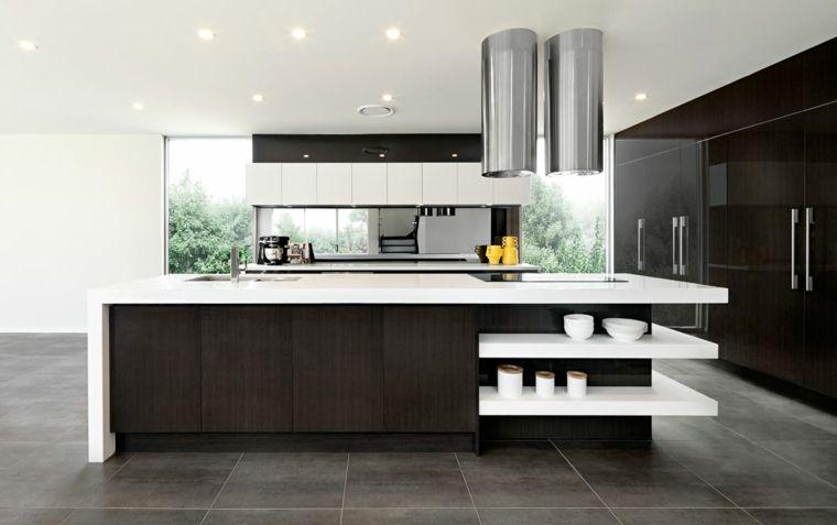 Soluzione dal design moderno ed essenziale cucine moderne for Cucine moderne scure