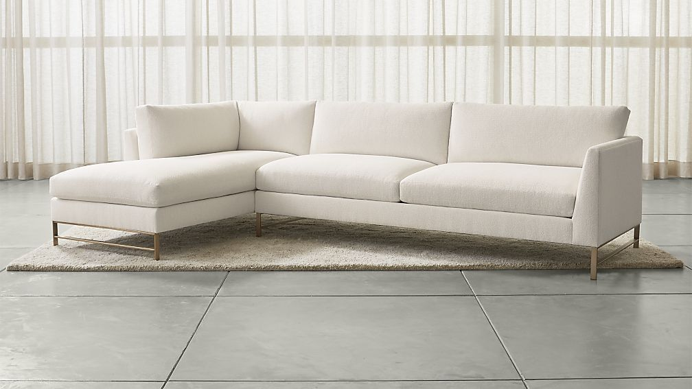 Genesis 2-Piece LeftArm Chaise Sectional with Brushed ...