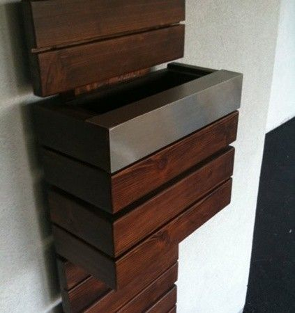cool modern mailbox for your entry design ideas with wooden material ideas and cool door design - Mailbox Design Ideas