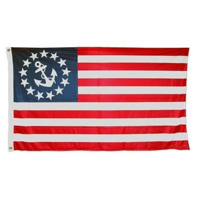 U S Yacht Flag Boat Ensign Flag 3ft X 5ft Superknit Polyester Double Sided Flag Store Vintage Flag Nautical Flags