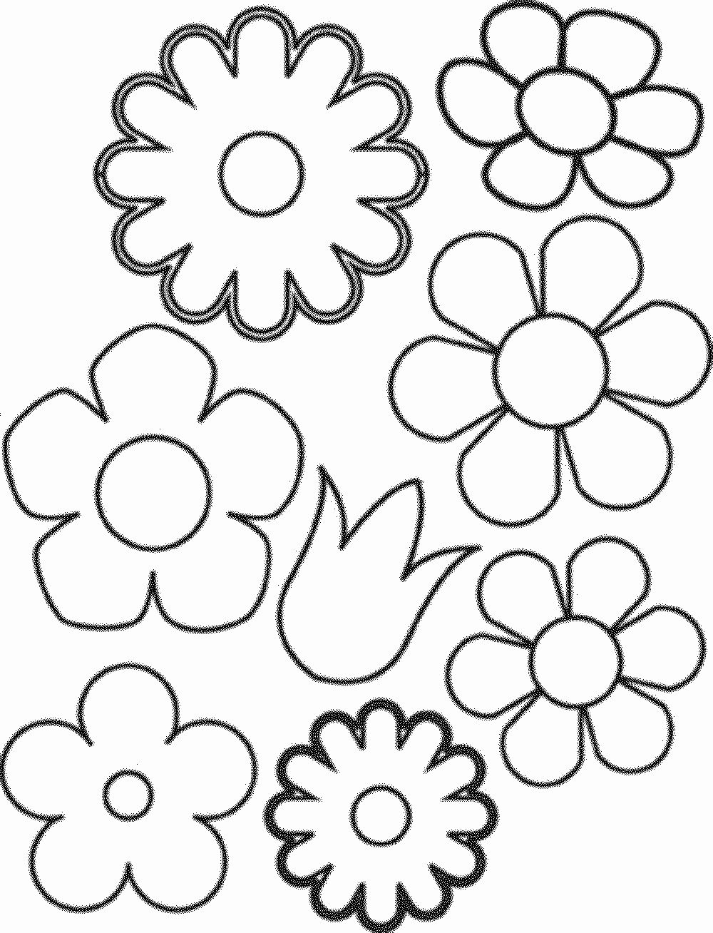 Flower Coloring Pages Simple In 2020 Flower Coloring Pages