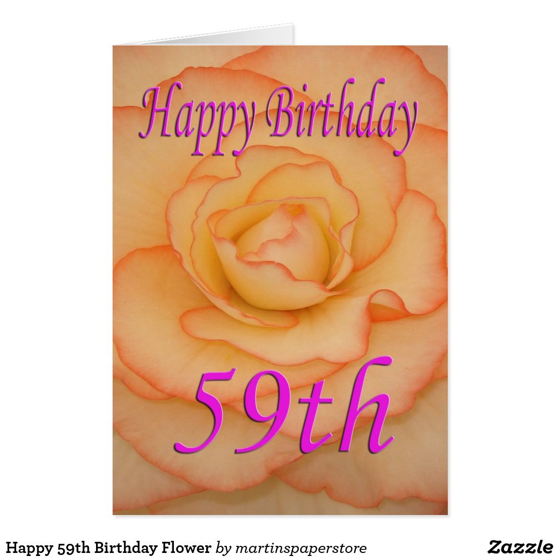 Happy 59th birthday flower card izmirmasajfo