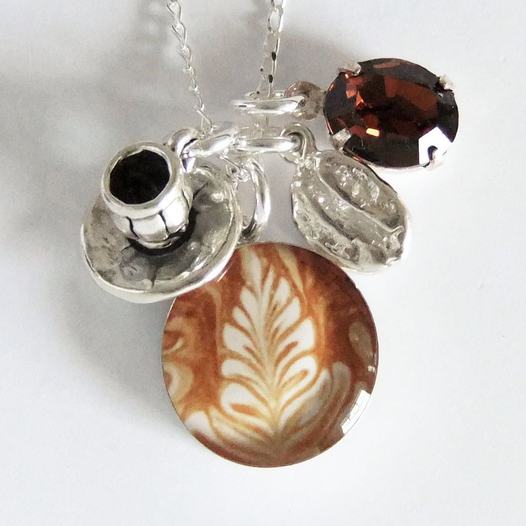 Coffee Art Etsy Love The Latte Art Charm Barista Coffee Charm Necklace