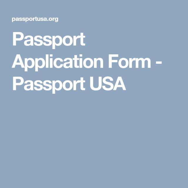 Passport Application Form Us Passport Renewal Form Us Passport