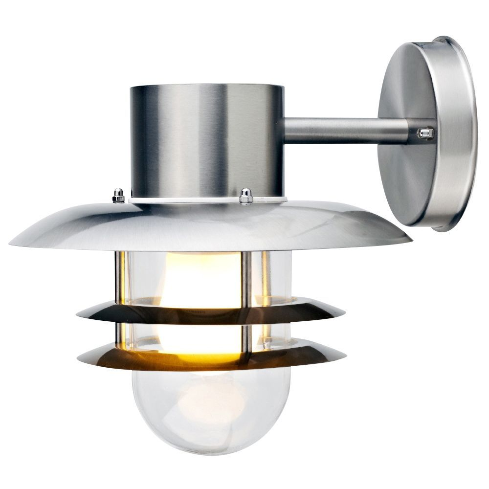 Blooma Minos Chrome Effect Mains Powered External Wall Light