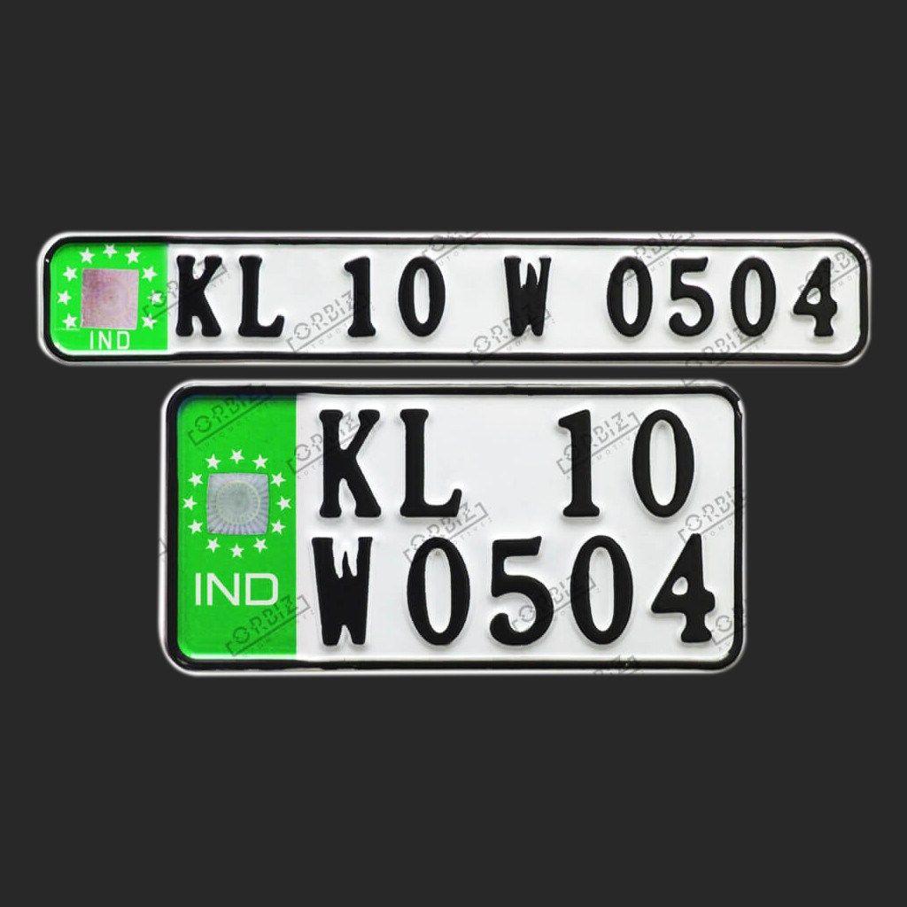 Orbiz Roman Number Plate Design Bike Plates