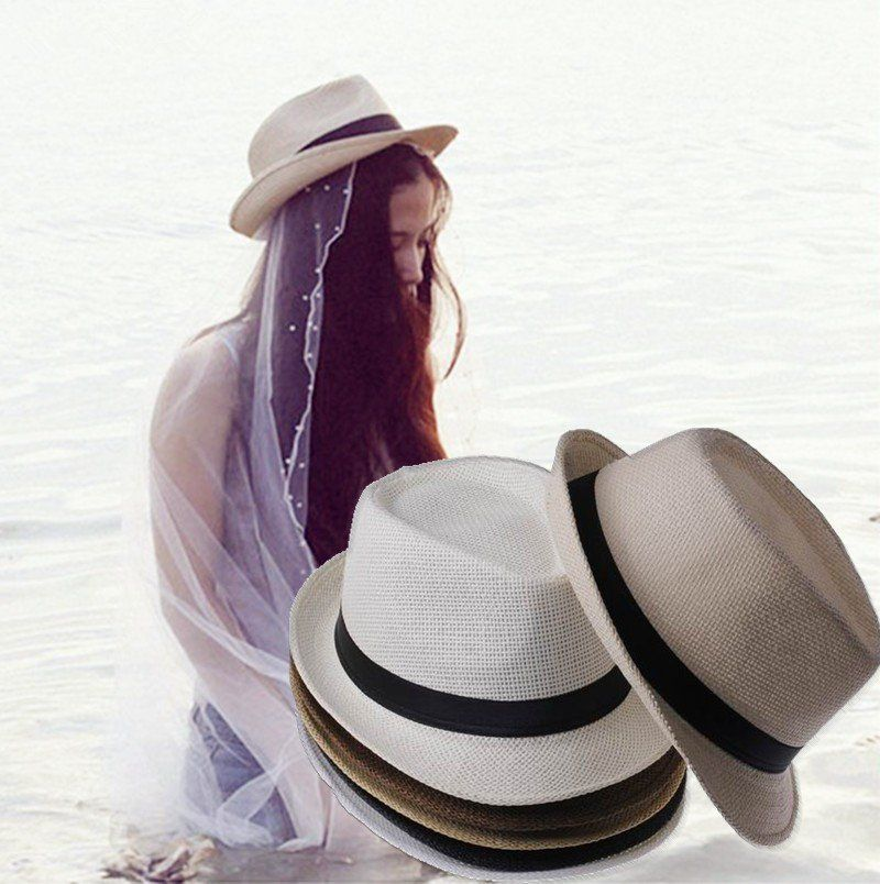 aa0447cc2ea Classic western fedora sun hat with short brim design Item Type  Women s Straw  Hats With Ribbon Band Gender  WomenPattern Type  SolidModel Number  ...
