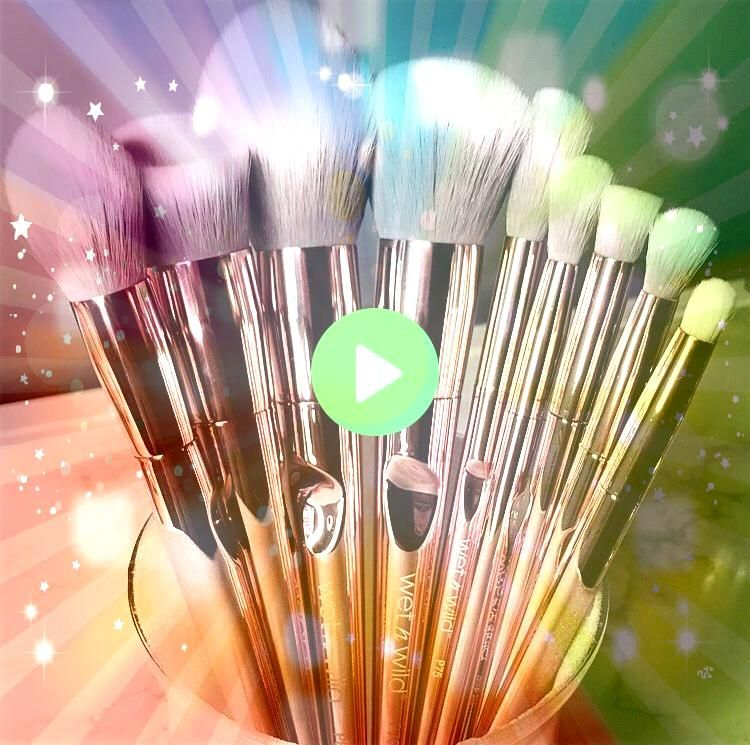 Pro Collection   Once Upon a Wishlist WetnWild Pro Collection   Once Upon a Wishlist Rosita  Pink to White Ombre Bristles MakeUp Brush Set Rose Gold Make Up Brush Set Ite...