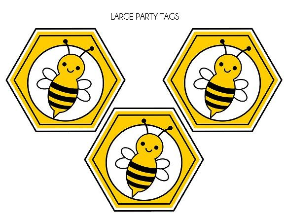 free bumble bee party printables from printabelle bumble bee