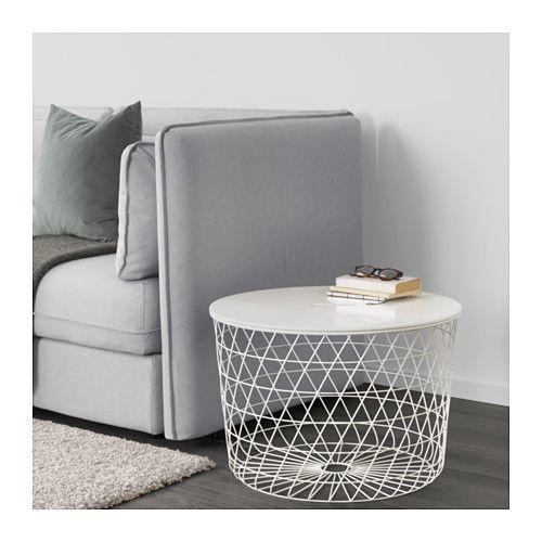 KVISTBRO Storage Table, White