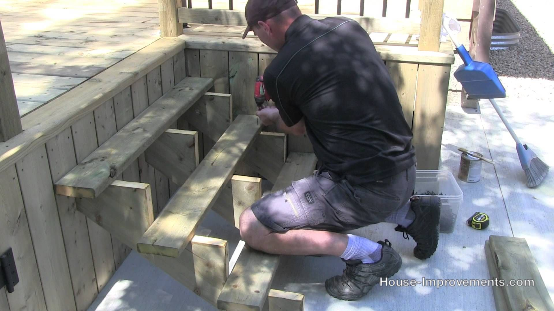 How To Build A Deck #6 Stairs & Hand Rail