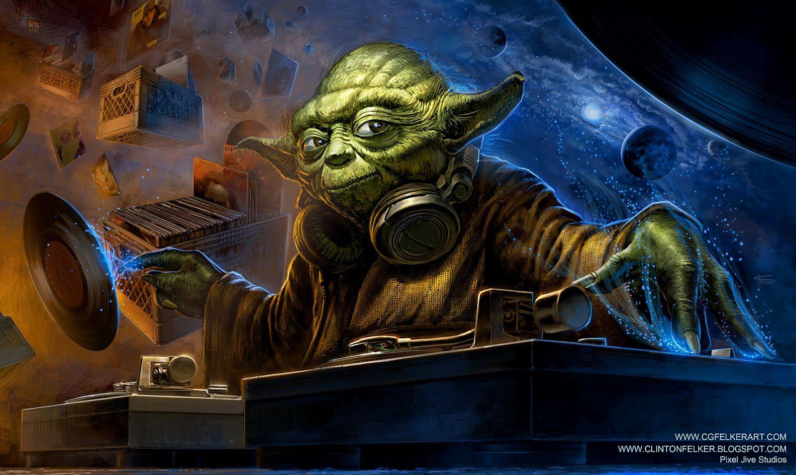 DJ Yoda | DJ/STUDIO | Star wars fan art, Star wars