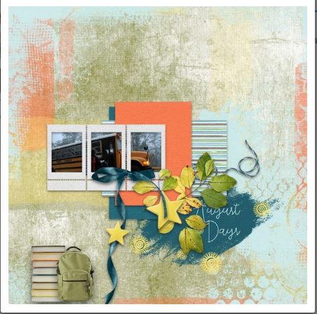 August Days Page Is An Example Of A Scrapbook Layoutpage You Can