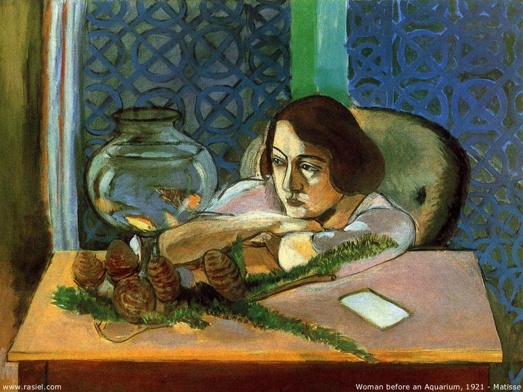 Image result for femme et poissons rouges 1921  matisse