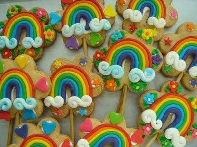 Rainbow Decorated Cookies