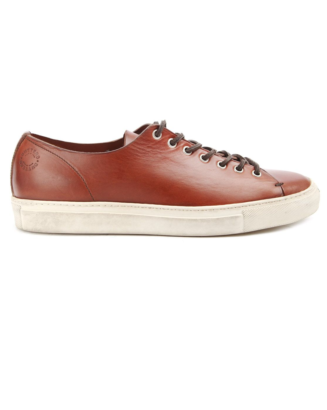 #Buttero Sneakers Tanino Burgundy Leather