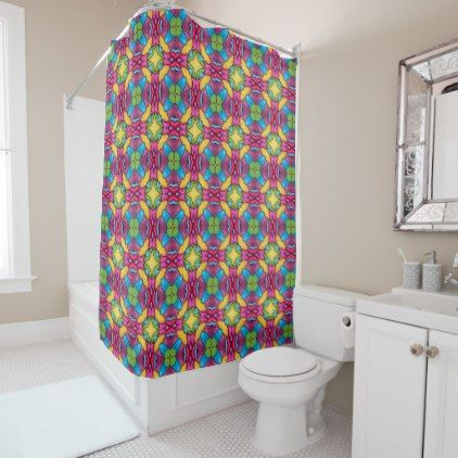 Gold Miner Kaleidoscope Vintage Shower Curtain
