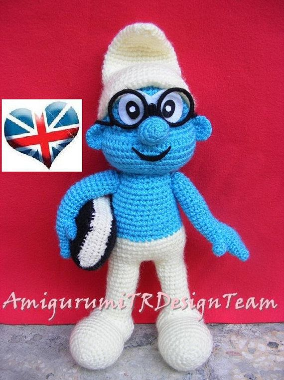 Brainy Smurf-AmigurumiTRDesignTeam by AMIGURUMITRDESIGN on Etsy ...