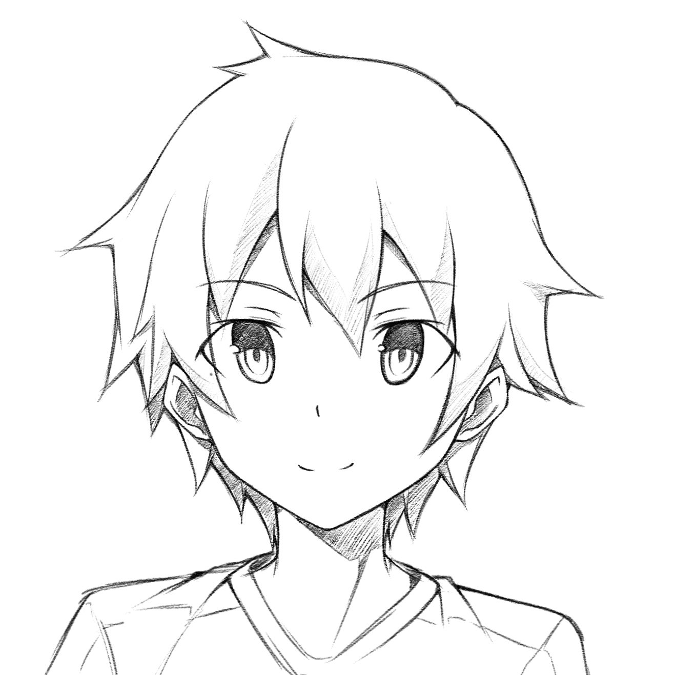 Anime boy drawing easy