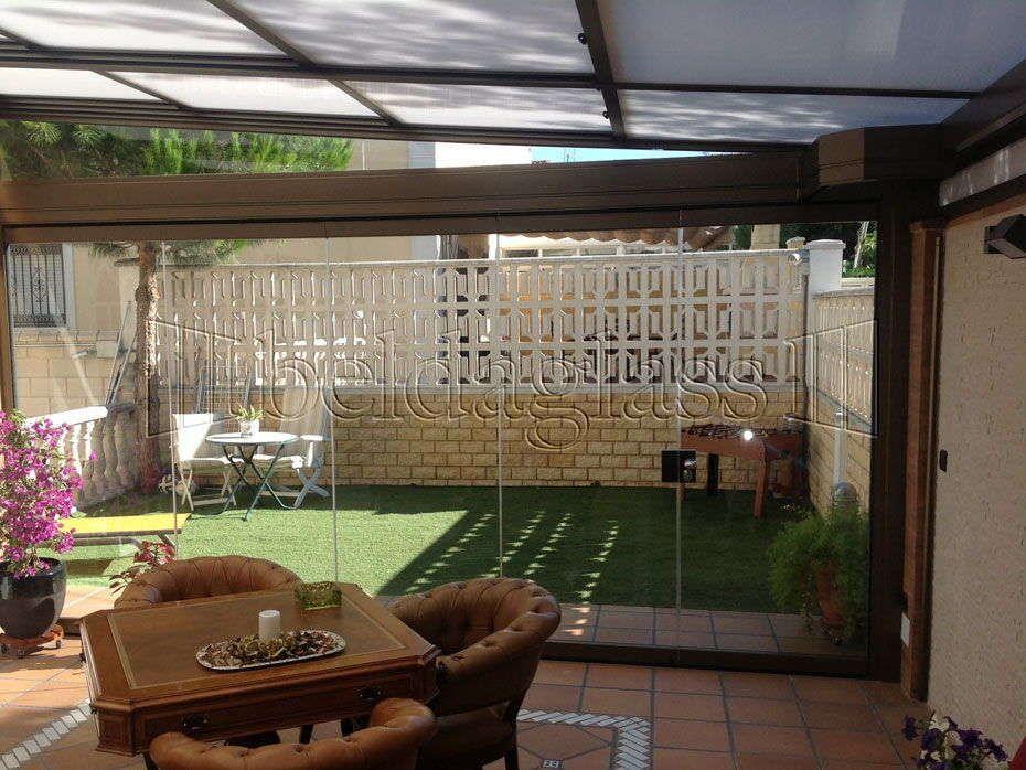 Cerramiento de terraza con techo m vil en madrid en 2019 for Techos moviles para terrazas precios