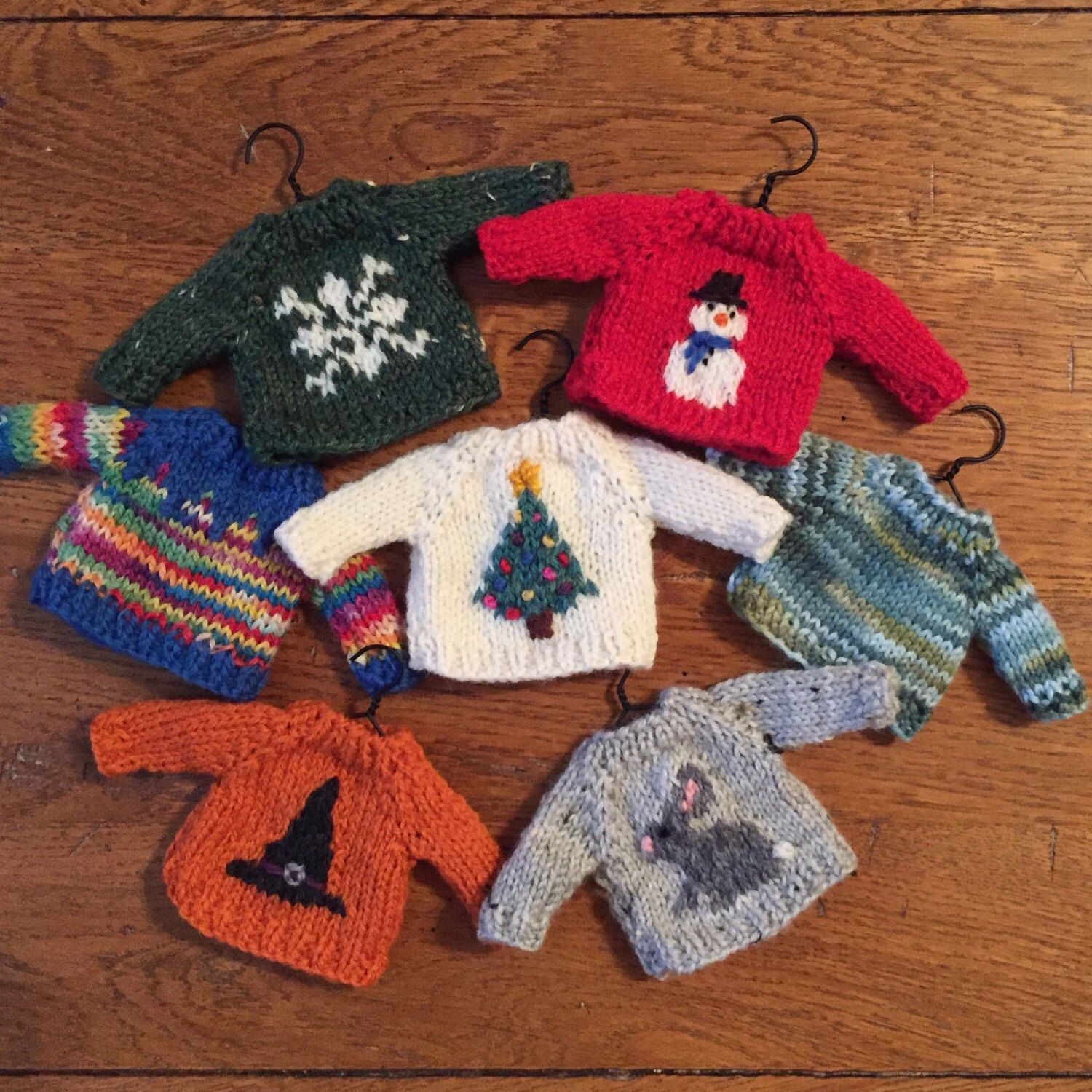 Photo of brand new Sweater Ornaments coming to my shop soon!