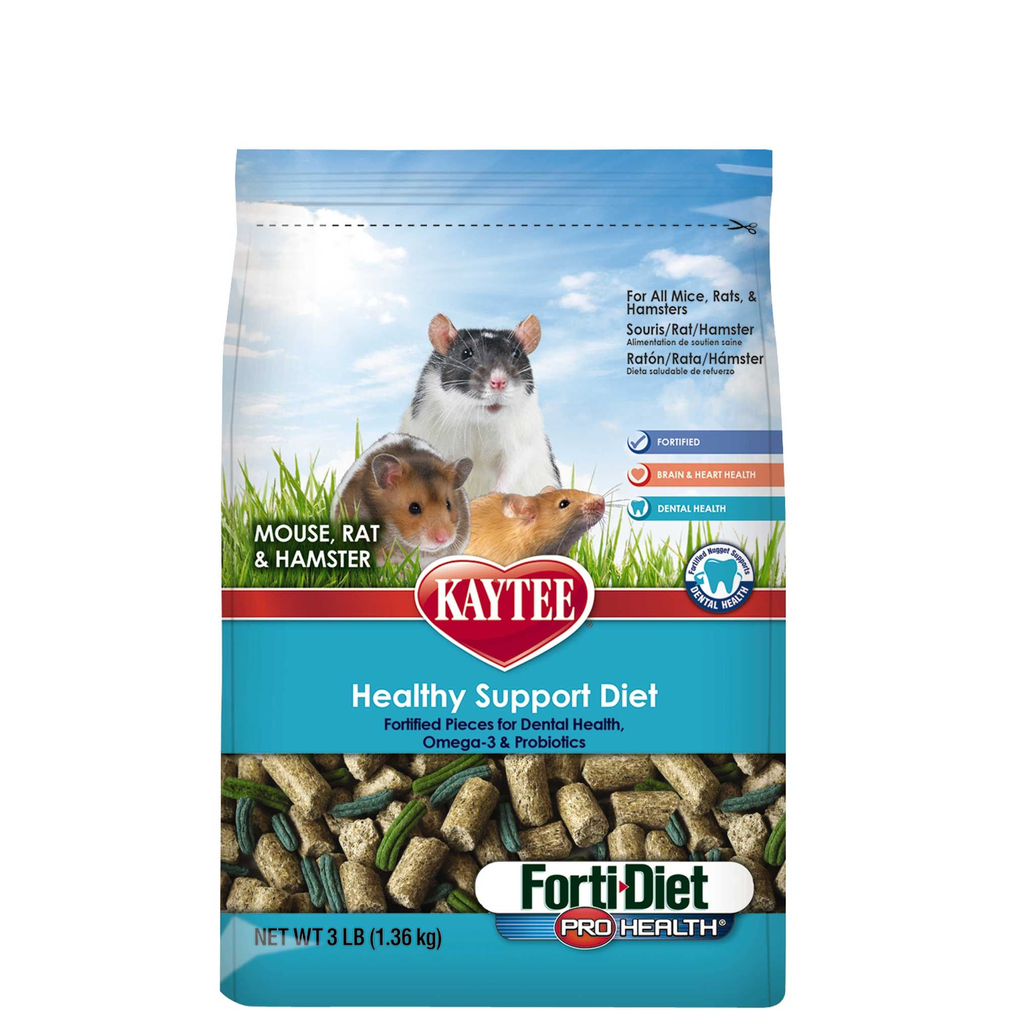 Kaytee Forti Diet Pro Health Mouse Rat Hamster Food 3 Lbs In