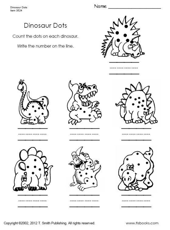 Dinosaur Dots Dinosaur Worksheets Kindergarten Worksheets Printable Kindergarten Worksheets