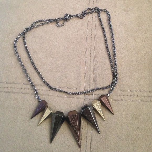 Layered spike necklace Layered spike necklace adjustable back Jewelry Necklaces