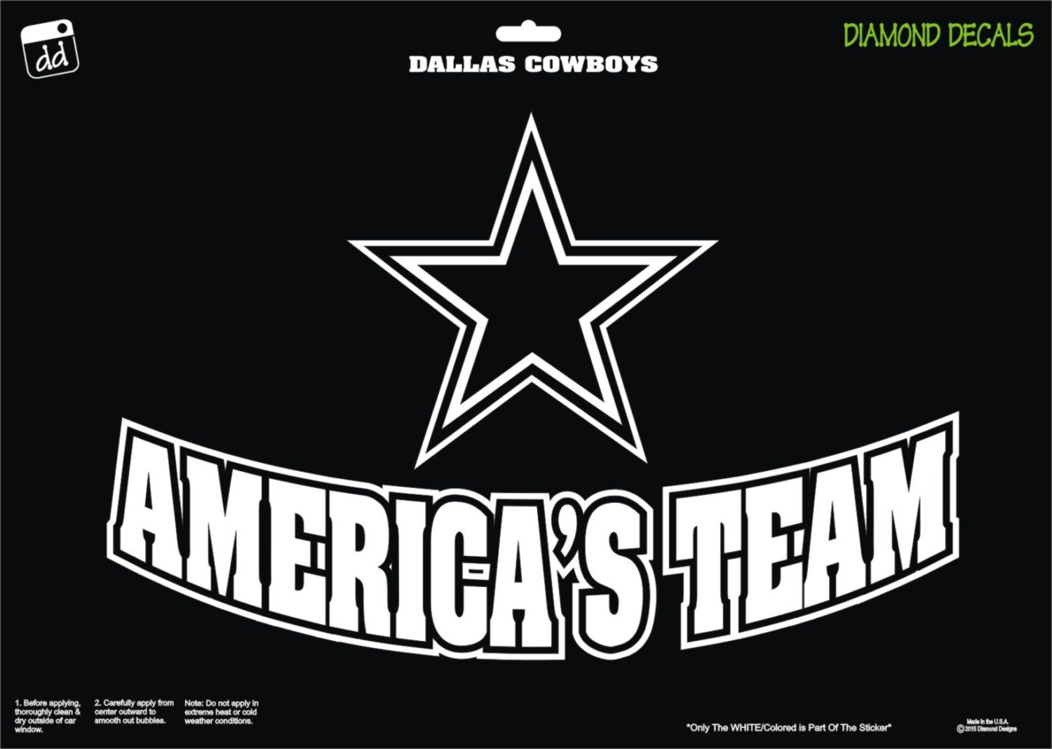 Dallas Cowboys Star Americas Team Football Decal Logo Vinyl - Cowboy custom vinyl decals for trucks