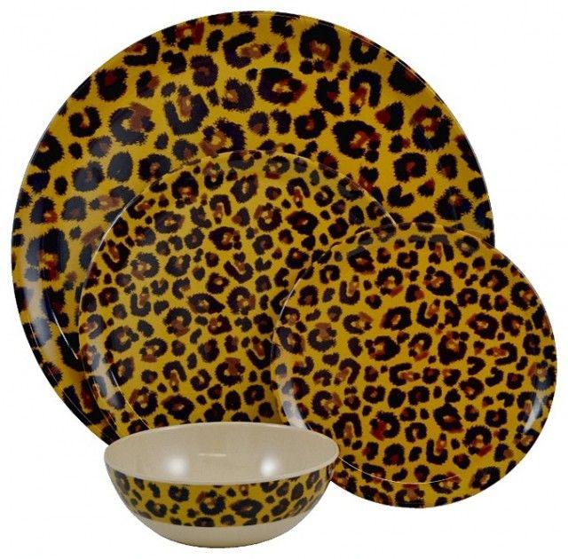 leopard print dinnerware set. | leopard in 2018 | pinterest ...