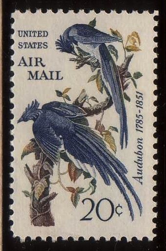 Image Of The James Audubon 20 Cent Air Mail Stamp Scott Cat NoC 71