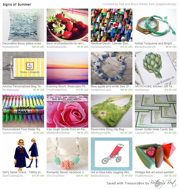 Signs of summer treasury featuring made in Connecticut items, including Made in the Shea'ds Van Gogh Quote Print.