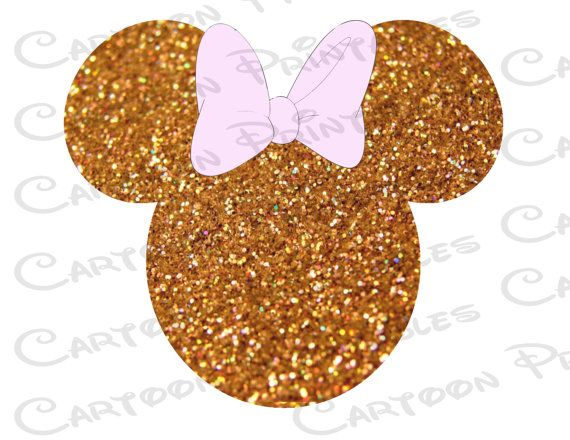 Minnie Mouse Head Gold Glitter Bling Image By Cartoonprintables Image Mouse Minnie Mickey Mouse Wallpaper
