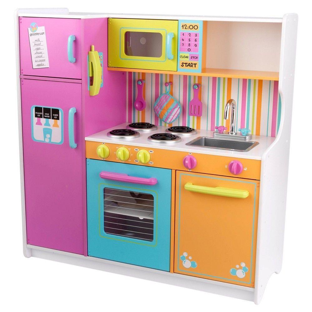 Kidkraft Deluxe Big Bright Kitchen Kids Play Kitchen Wooden