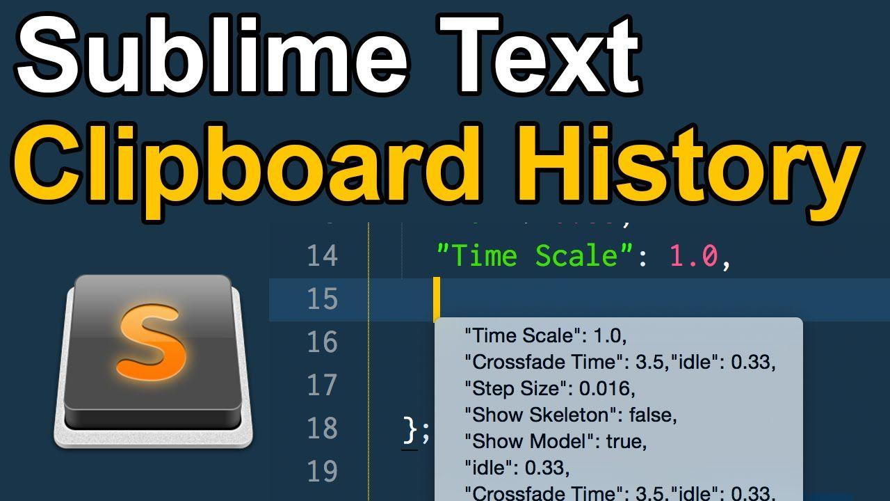 sublime text clipboard history (con imágenes)
