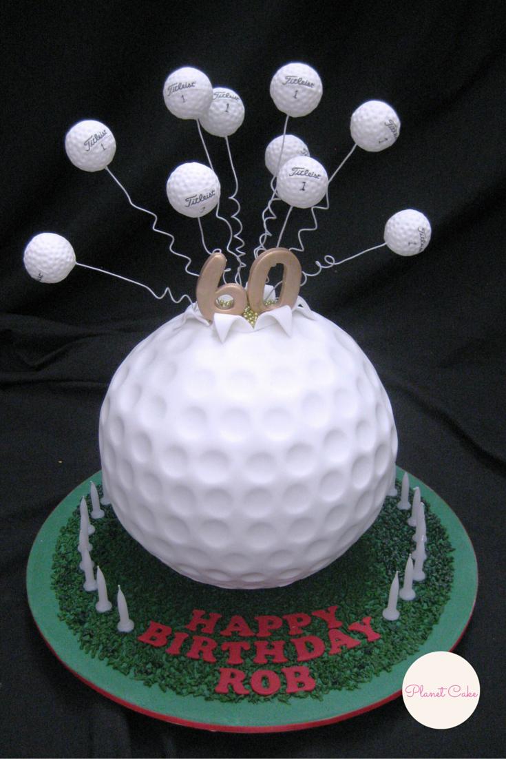 exploding golf ball cake planet cake online store pinterest motivtorten fondant und. Black Bedroom Furniture Sets. Home Design Ideas
