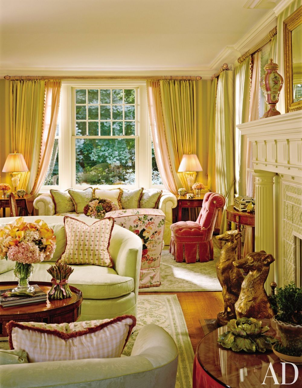 Living Room by Marshall Watson and Holmes Easley and James Akers in Summit, New Jersey