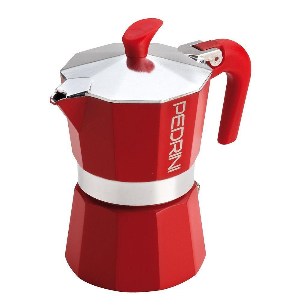 6 Cup Espresso Coffee Pot Red Colour Pedrini Manual Espresso ...