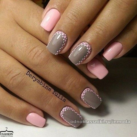Pin by on pinterest hair masks everyday nails grey and pink nails manicure prinsesfo Images