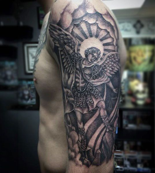 Guardian Angel Sleeve Tattoos For Men