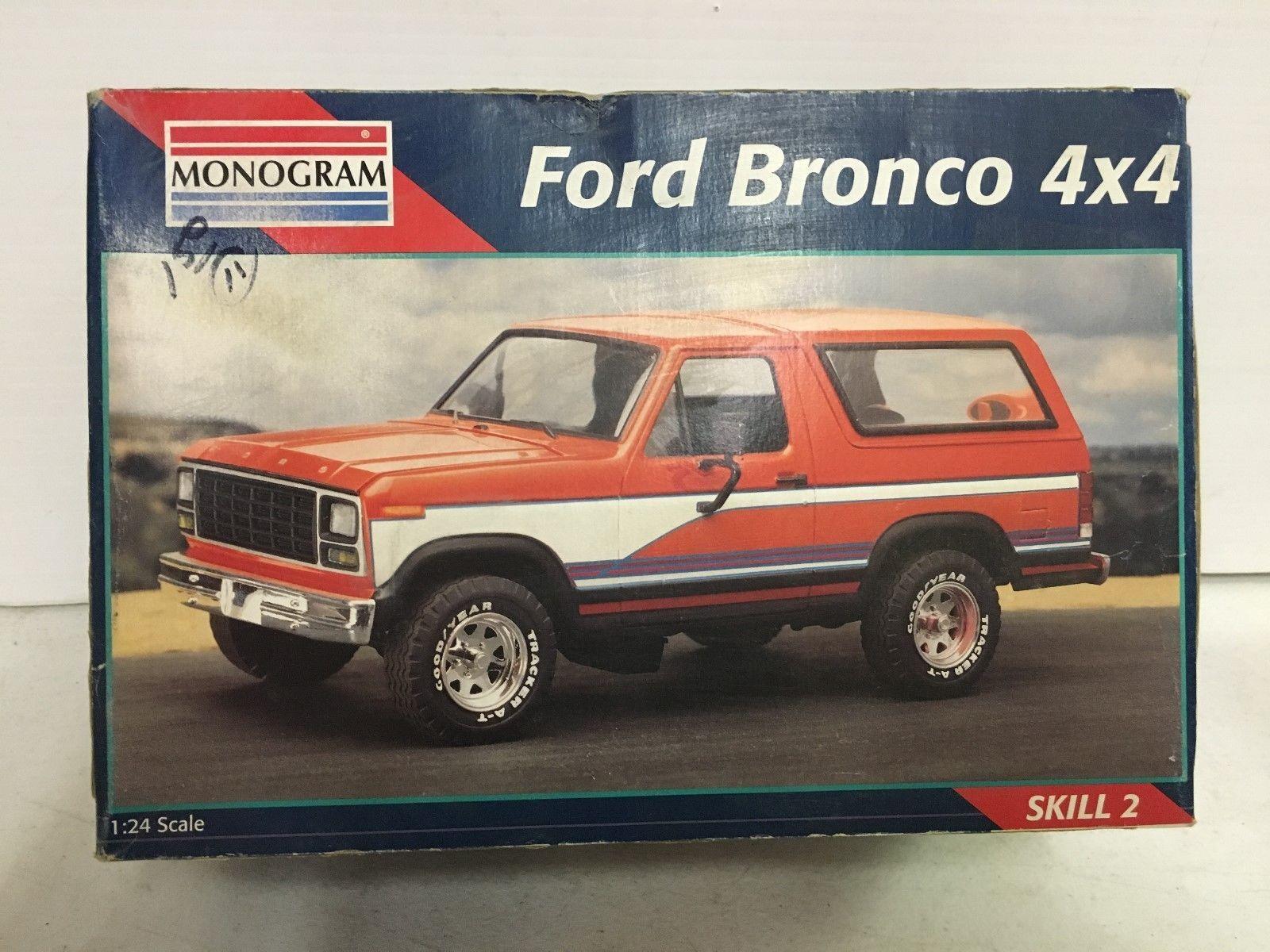 vintage monogram 1 24 car model kit ford bronco 4x4 truck nib ebay model car boxes. Black Bedroom Furniture Sets. Home Design Ideas