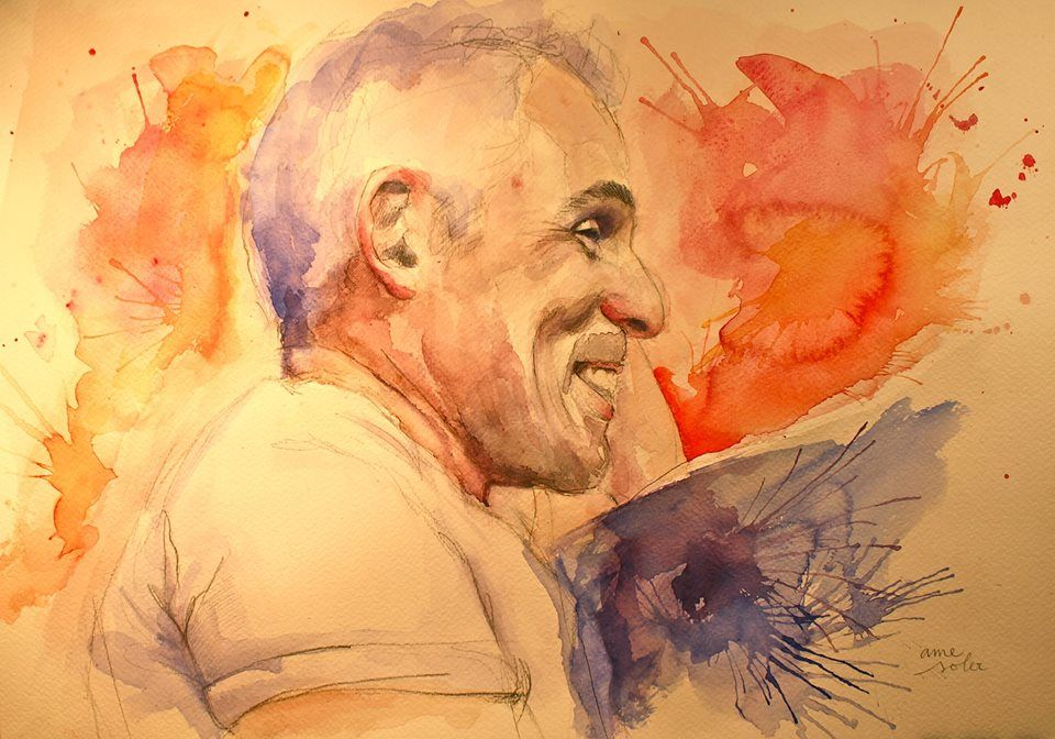 Paco / Watercolour 32 x 46 / Artist Ame Soler