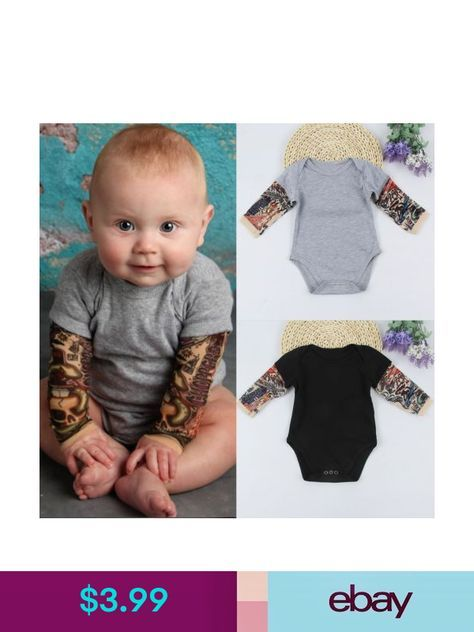 Newborn Infant Baby Boy Girl Kids Cotton Romper Jumpsuit Bodysuit