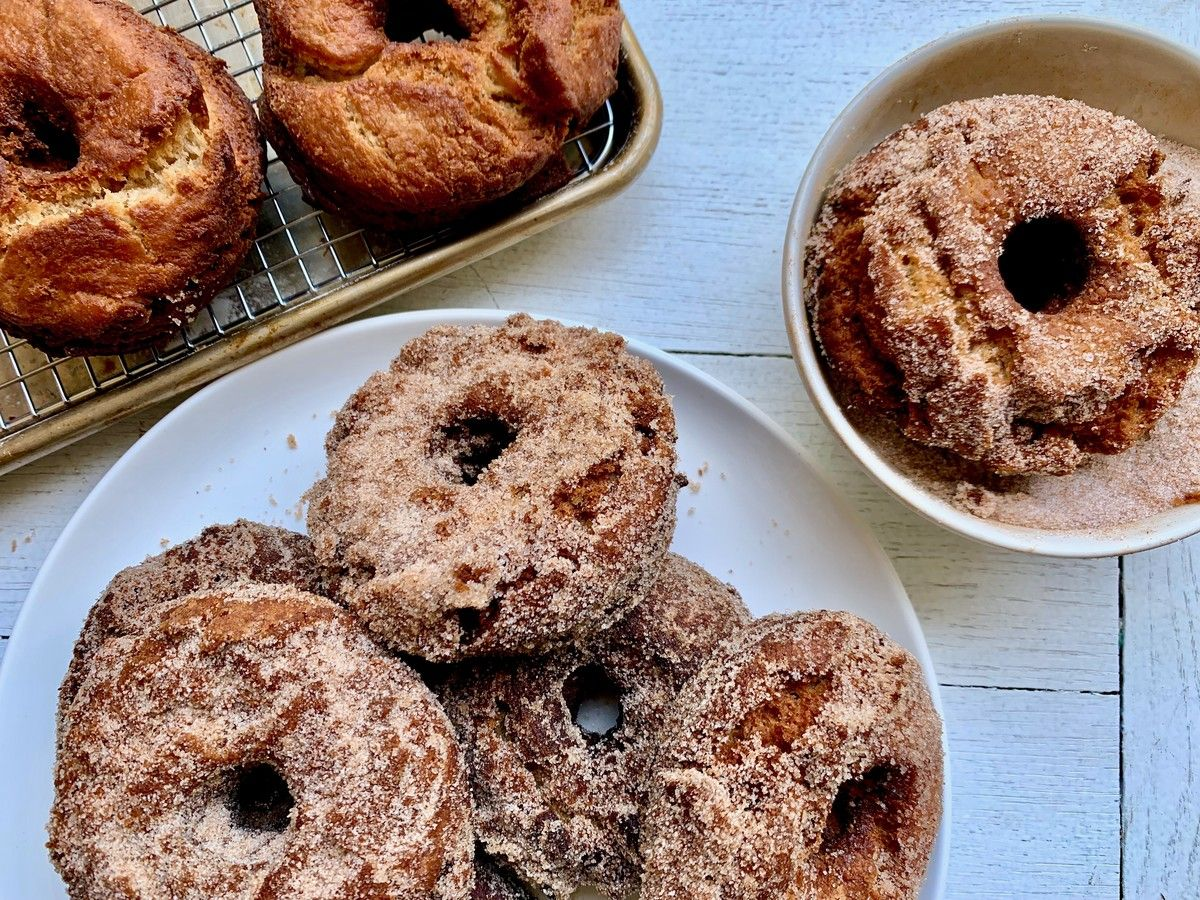 Apple Cider Doughnuts #spikedapplecider
