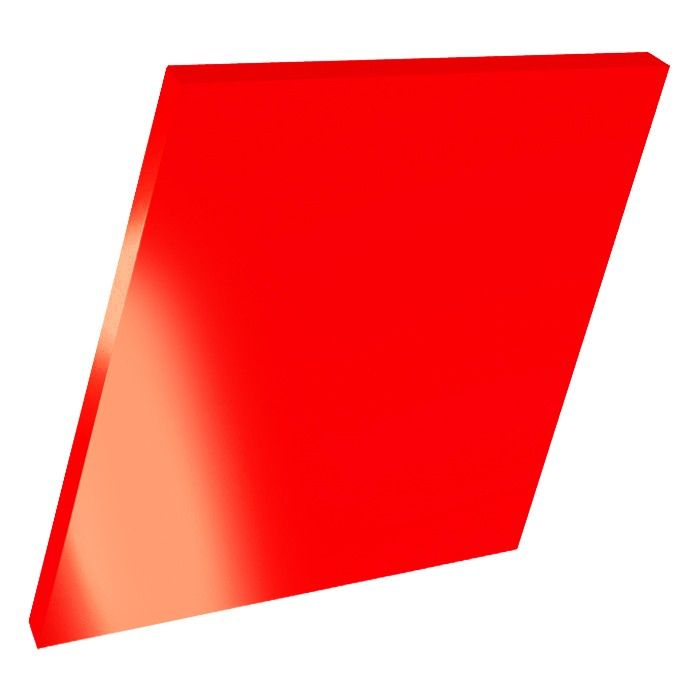 3mm Perspex Red Fluorescent Acrylic Sheet Fluorescent