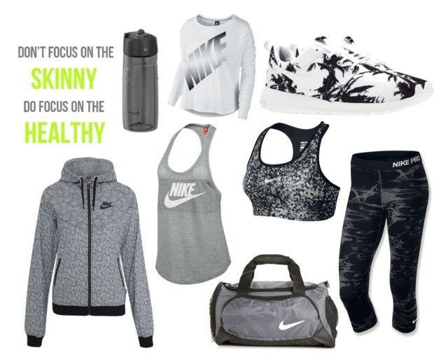 just do it. by amandalen on Polyvore featuring polyvore, fashion, style and NIKE