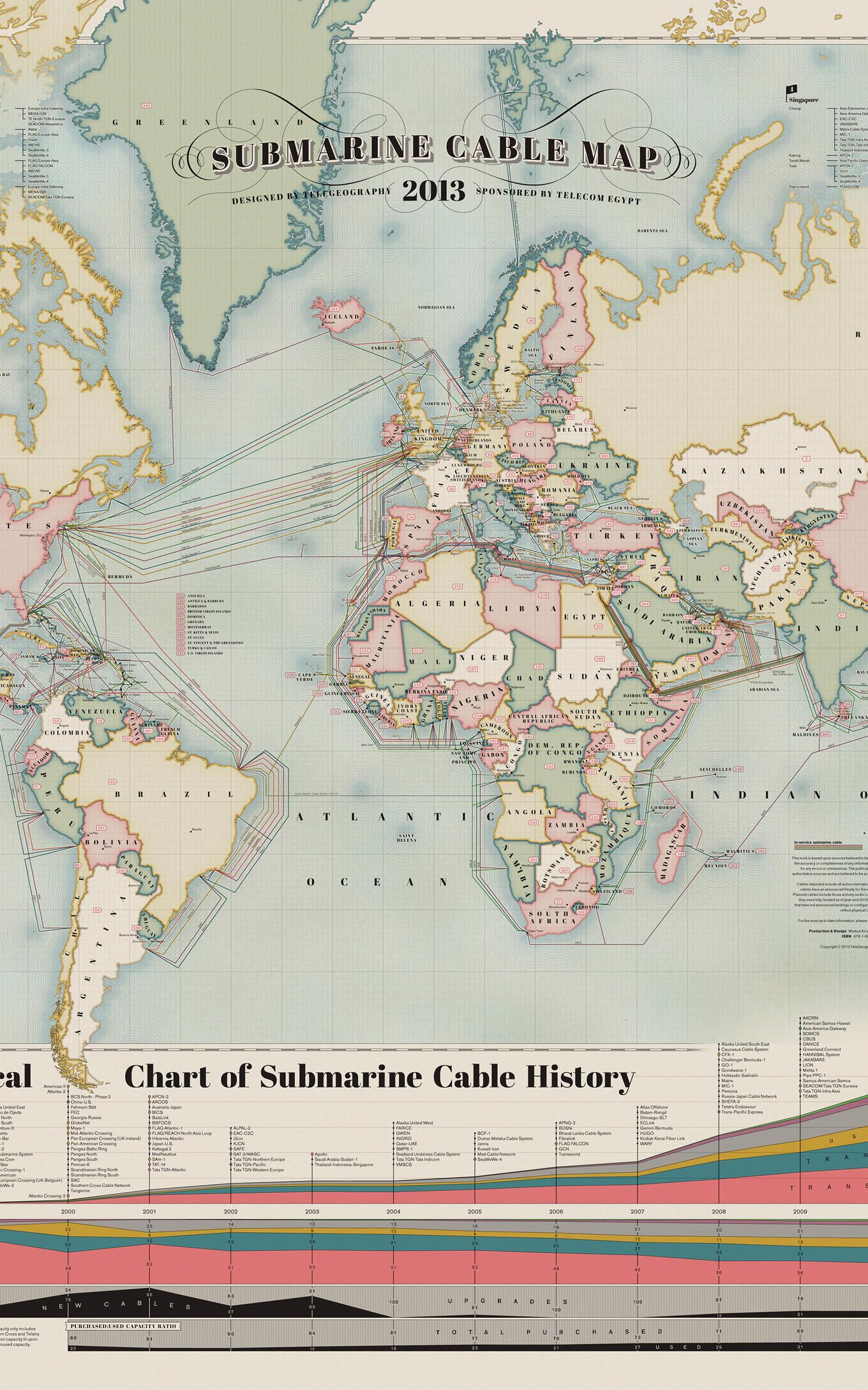Submarine Cable Map 2013 | Internet | Pinterest | Business design ...