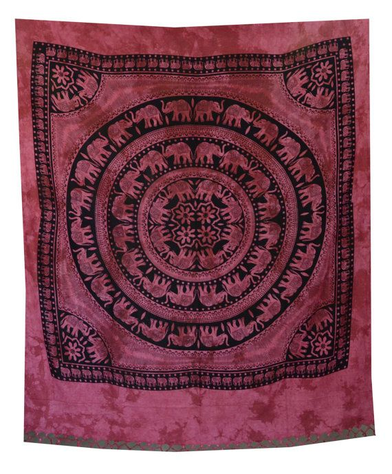 Elephant Mandala Tapestry Hippie Wall Hanging by HandicraftsPalace, $21.99