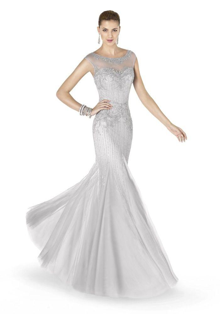 Pronovias Fiesta / Bateau Neckline Mermaid Evening Dress, Gown ...